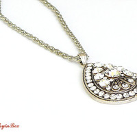 Bridal Swarovski Necklace, Wedding Jewelry