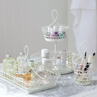 White Wire Beauty Storage