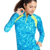 Ideology Top, Long-Sleeve Graphic-Print Pullover - Womens Active Tops - Macy&#x27;s