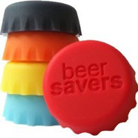 Beer Saver Reusable Silicone Bottle Caps - Set of 6: Amazon.com: Kitchen & Dining