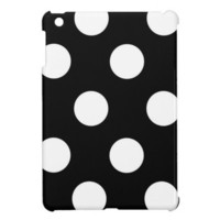 Black And White Polka Dot iPad Mini Cases from Zazzle.com