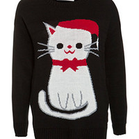 Cameo Rose Black Cat Christmas Jumper