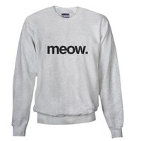 Amazon.com: Meow - Cat Funny Sweatshirt by CafePress: Clothing
