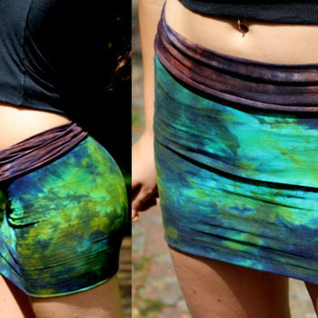 Pixie poi tie dye tube pencil skirt