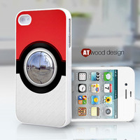 unique iphone 4 case iphone 4s case iphone 4 cover Pokemon Pokeball design image print