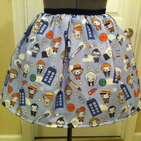 One of a kind Doctor Who inspired skirt - Made to order