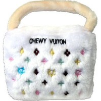 Amazon.com: Chewy Vuiton Handbag Plush Dog Toy for Large Dogs: Pet Supplies