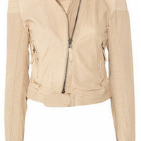 DAY Birger et Mikkelsen|Day Fulani leather and canvas jacket|NET-A-PORTER.COM