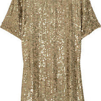 Vince|Sequin-embellished crepe dress|NET-A-PORTER.COM