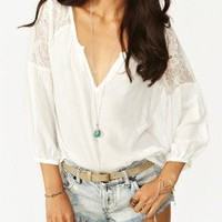 SALE! Won't be relisted FREE PEOPLE Lace Crochet Top Hippie Gypsy XS SMALL Poet