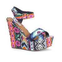 Steve Madden Floral Aztec Print Wedges