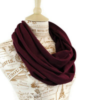 Infinity Scarf Maroon Mulberry Burgundy Circle Wine