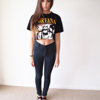 Vintage Nirvana Cropped T Shirt