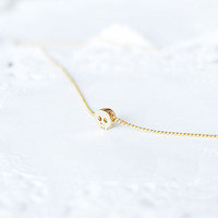 tiny gold skull necklace-mini gold  skull pendant necklace-dainty minimalist jewelry-black gold