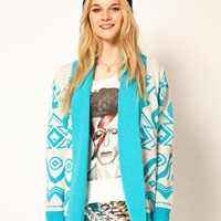 A Wear Geo Intarsia Cardigan at asos.com