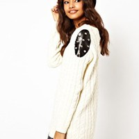 ASOS Studded Aran Jumper at asos.com