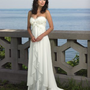 Cheap Sweetheart Strapless Chiffon Destination Wedding Dresses - Basadress.com