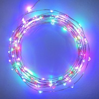 Starry Starry Lights - MultiColor Micro LED's - 20ft LED Light String with 120 LEDs on a Ultra Thin