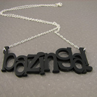 Big Bang Theory Necklace Bazinga by casstasstrophe on Etsy