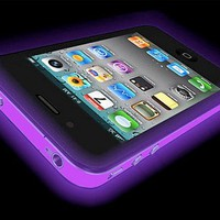 Glow In The Dark Silicone Protective Case for iPhone 4 and 4S (Purple)