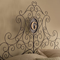 &quot;Dayton&quot; Monogrammed Headboard - Horchow