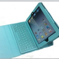 Leather Protective Case Bag Cover Protector With Bluetooth Keyboard for the NEW iPad 3 3rd Generatio