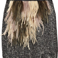 J.Crew Naomi feather and sequin-embellished silk skirt - 50% Off Now at THE OUTNET