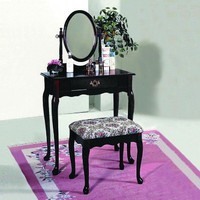 Happy Home Deals! - Cherry Vanity Set by Crown Mark