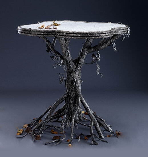 Occasional Table: Bill Masterpool: Metal &amp; Marble Table - Artful Home