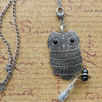 Indie Vintage Owl Necklace