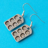 Tiny Cupcake Pan Earrings for your favorite by SaritasJewelryBox