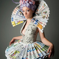 Victorian Newspaper Princess Dress and by PoshFairytaleCouture