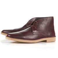 """Nevada"" Leather Desert Boots - TOPMAN USA"