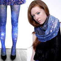 Magellanic Cloud Nebula Tights and Scarfs- FOLLOW ME AND ENJOY&lt;3