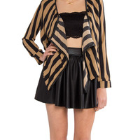 Striped Drape Jacket - 2020AVE