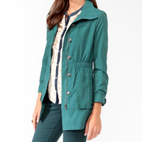 Sueded Longline Jacket