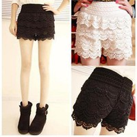 Mini Tiered Lace Shorts