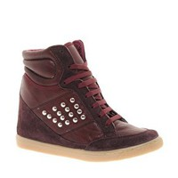 ASOS DENY Studded Wedge High Top Trainers with Suede Detail at asos.com