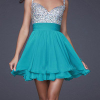New!Shinning Women&#x27;s Prom Evening Party Short Dress