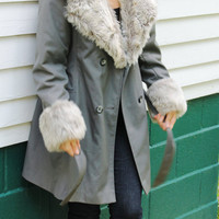 1970s Winter Coat  Faux Fur by Bonders