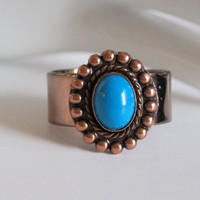 UpCycled Jewelry Fashion Ring Copper and by NewToYouJewelry