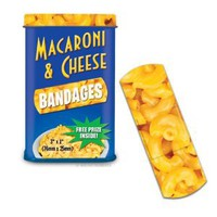 Amazon.com: Macaroni & Cheese Bandages Novelty Gag Band Aids: Toys & Games