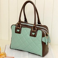 Wholesale Ladies Light Blue Rhombus Shape Handbags : Wholesaleclothing4u.com