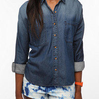 BDG Breezy Chambray Button-Down Shirt - Vintage Denim