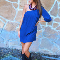 Oh Happy Days Dress: Navy | Hope's