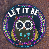 let it be owl car magnet | gypsyville