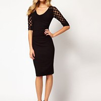 Coast Charlotte Knitted Dress with Polka Dot Sleeve at asos.com