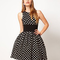 Manoush Polka Dot Prom Dress at asos.com