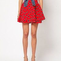 ASOS Skater Skirt in Large Spot at asos.com