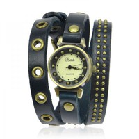 Leather Fashion Wrap Watch on Luulla